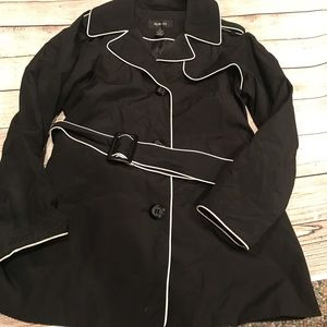 Style & Co. Black and White Trench Coat